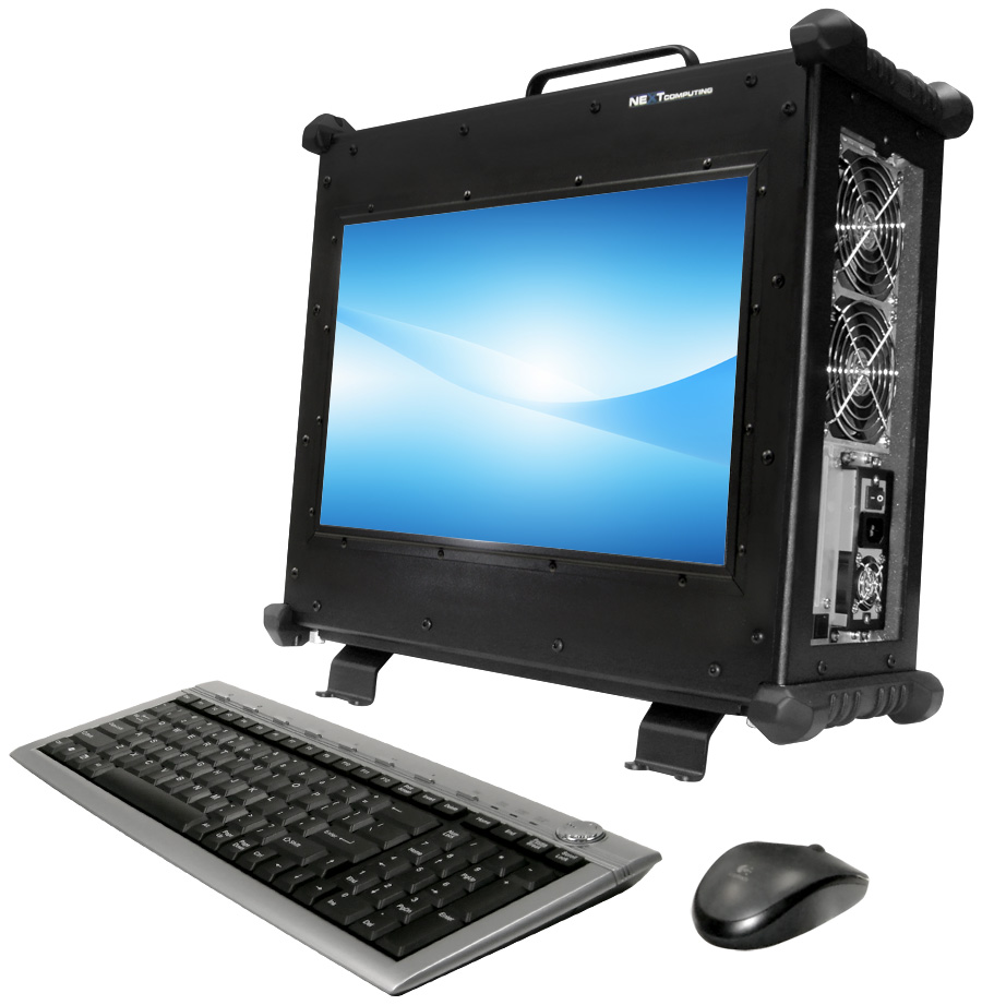 Rugged portable computer workstations