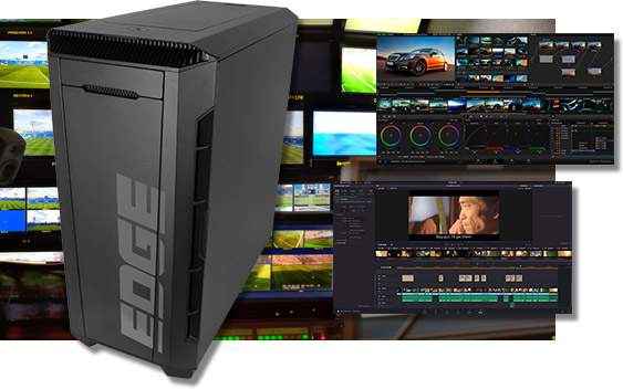 Computer workstations for 3D, video, and production