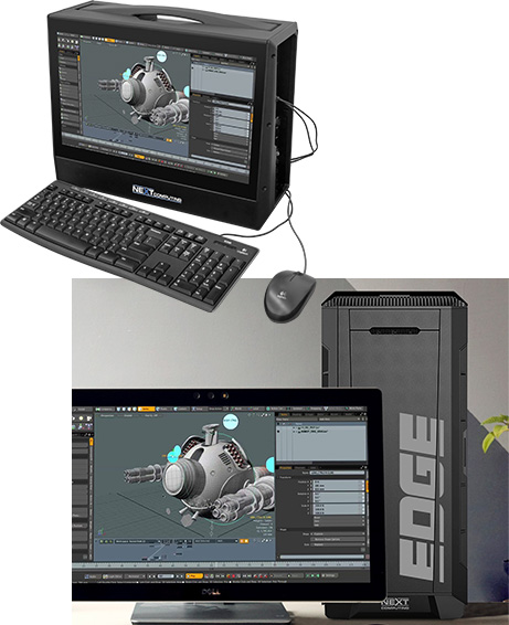 Workstations for Foundry Modo 3D modeling, texturing and rendering