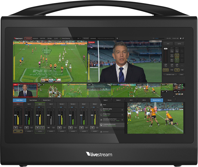 Livestream Studio powered Studio HD550 portable switcher and encoder