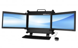 Vigor EDS with triple monitor display configuration